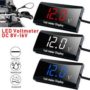 12V Digital Car Motorcycle Voltmeter Voltage Volt Gauge Panel Meter LED Display