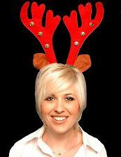 Weihnachten rot Rentier Geweih mit Glocken Stirnband Kostüm Verkleidung Zubehör