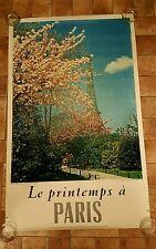 Original Vintage France Le printemps à Paris Rod Rieder photo Tour Eiffel French