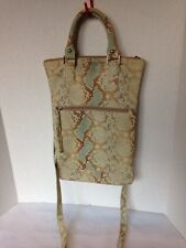 MAURIZIO TAIUTI Leather Snake Skin Crossbody purse Made in Italy