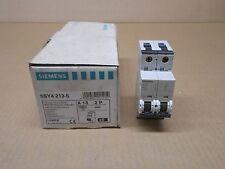 6 NIB SIEMENS 5SY4 213-5 5SY4213-5 CIRCUIT BREAKER 13 AMP 13A 2P 400V BOX OF 6