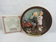 """Norman Rockwell Gallery Collector Plate 8"""" The Cobbler 3D w/ Coa & Box -123 1"""