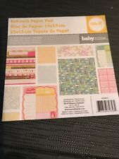 AMERICAN CRAFTS WE R MEMORY KEEPERS 6 X 6 PAPER PADBaby Mine, 18 Double Sided
