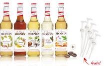 Monin Café-Set 5x700ml + 5 Pumpen gratis