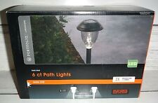 Portfolio 6-Light Black 3 Lumen Solar Power LED Path Light Kit 805247