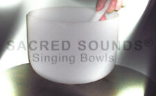 CRYSTAL SINGING BOWL 11 INCH SOLAR PLEXUS CHAKRA NOTE E QUARTZ FROSTED BRAND NEW
