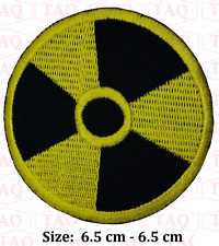 Radioactive sign iron on patch radiation danger  hazard symbol sign