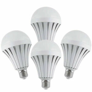 4 Pack Emergency Bulbs Rechargeable LED Light with Battery Backup LED EBulbs