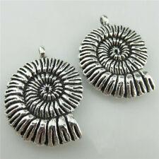 10pcs Animal Snail Shell Vintage Silver Pendant Charm 20126