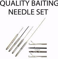 Quality Stanless Steel Baiting Needle Set - Coarse Carp Sea Fishing Tackle