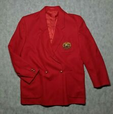 Vintage Burberry 's Blazer Double Breasted UK 12 Red Vintage Wool single Button