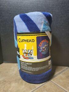"NEW! Cuphead & Mugman 48""x60"" Plush Soft Fleece Throw Blanket by loungefly. NWT"