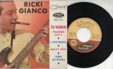 RICKY GIANCO rarissimo disco EP 45 giri STAMPA FRANCESE Tu vedrai + 3