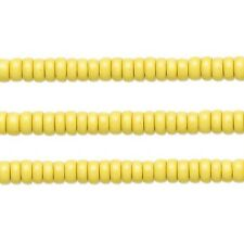 Wood Rondelle Beads Yellow 8x4mm 16 Inch Strand