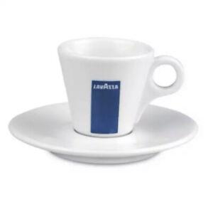 x2 Lavazza Espresso Cup & Saucer Italian Coffee Mug Barista Demitasse Expresso