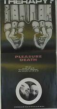 Therapy? - Pleasure Death rare ORIG. UK póster