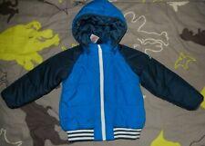 Adidas, blaue Jungen Winterjacke, Gr. 104, gebraucht