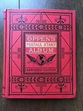 Original Stamp Collection in Antique Little Oppens Album