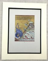 1929 Antique Print Italian Byzantine Mosaic Jesus Christ Fish and Birds Italy