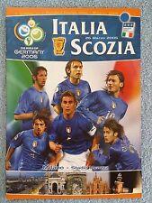 2005-Italia-Scozia programma-Coppa del Mondo 06 condizione di QUALIFICATORE-V.G