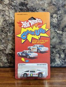 NOC 1984 Vintage Hot Wheels Crack-Ups Blind Sider White New #7577