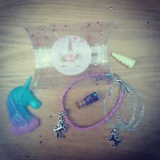 Unicorn charm gift set jewellery box necklace bracelet pendant