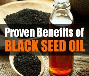 Black Seed Oil 100% Pure Organic Non GMO Cold Pressed Nigella Sativa Cumin