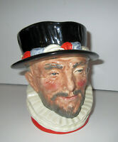 Large Vintage 50's Royal Doulton Toby Mug Jug D626 Beefeater Queens Guards 6.5""