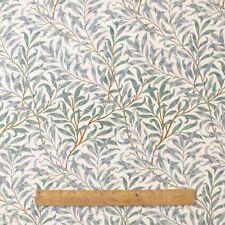 William Morris rama verde de sauce peso pesado por el medio metro de tela