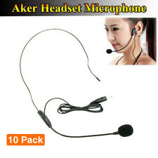 10 Set Wired Clip-on Microphone Headset for AKER Voice Amplifier Booster Speaker