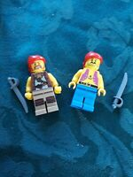 Lego minifigures x 2 pirates with swords