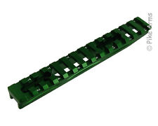 """EXTENDED REVERSIBLE 1/2"""" HEIGHT RUGER 10/22 PICATINNY SCOPE RAIL - SATIN GREEN"""