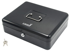 Security Kingsley Lock Metal Steel Cash Box Cash Drawer Locking Register w/ Tray