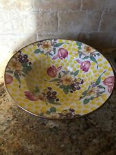 MacKenzie-Childs Buttercup LARGE SERVING Enamel Bowl  VERY RARE - more pcs avail