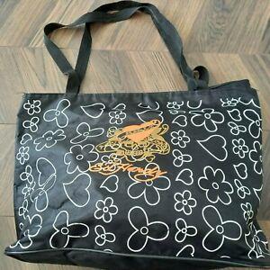 Ed Hardy Tote Shopping Bag - Love Kills  SKULL -Gold Bronze - BLACK