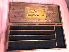 Antique The Excelsior Sign And Price Marker Original Advertising Wood Box
