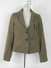 Abercrombie & Fitch Womens Wool Jacket Herringbone  Size Small Brown