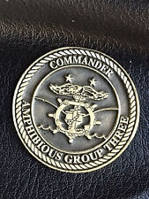 Authentic Dept. of the Navy, Amphibious Group Three, Commander's Coin  -180