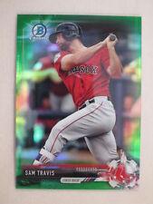 2017 Bowman Chrome Green Refractor Sam Travis BCP170 Red Sox #23 of 99