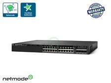 Cisco Ws-C3650-24Pd-S 24-Port GbE PoE+ w/ 2x10G Uplinks Ip Base 3650 Switch Mm