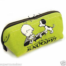 SHO-BI SNOOPY 65TH ANNIVERSARY VINTAGE SERIES CANVAS BAG GREEN OP81414
