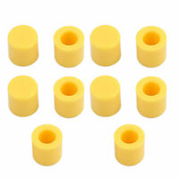 10Pcs Round Shaped Tactile Button Caps Covers Yellow for 6x6mm Tact Switch
