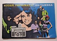 Eastman Kodak Instamatic 414 Camera Owner's User Guide Manual Booklet Vintage