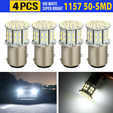 4pcs 6000K Super White 1157 BAY15D 50-SMD LED Tail Stop Brake Light Bulbs 7528