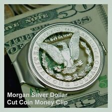 99-Year-Old Morgan Silver Dollar Cut Coin Men Birthday Money Clip Anniversary