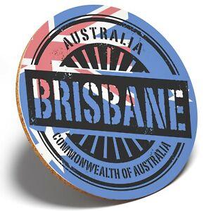 1 x Commonweal?th Of Australia - Round Coaster Kitchen Student Kids Gift #7389
