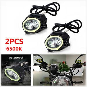 Motorcycle LED Spotlight Focused Rearview Mirror Light Beam Driving Working lamp