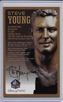 Steve Young Pro Football Hall of Fame Autographed Bronze Bust Card 100/150