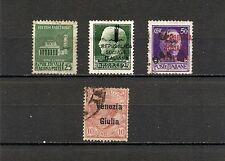 ITALIA 1944, Repubblica Sociale + Venezia Giulia, 4v usati (pha119)