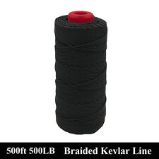 Top Quality Black 500ft 500lbs Kevlar Braided Speargun Band Constrictor Cord